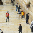 Wailing wall view from above — Stock Photo