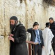 Praying at the Wailing Wall Jerusalem — Stock Photo