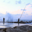 Two men fishing  — Stock Photo