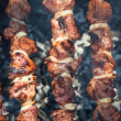 Background barbecue close-up  — Stock Photo