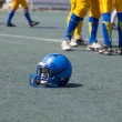 图库照片: Helmet player in college football