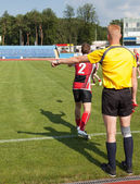 Referee for the game of rugby — Foto Stock