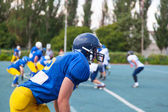 American football player, ready — Foto Stock