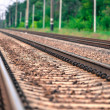 Railway close-up  — Stock Photo