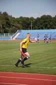 Americký rugby, soudce se drží pravidla — Stock fotografie