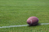 American rugby ball on the grass — Stock Photo