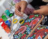 Handpainting tradition — Stock Photo