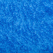 Terry cloth blue background  — Stock Photo