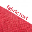 Red fabric background — Stock Photo