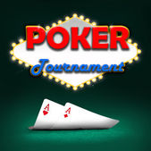Poker tournament — Stock Photo