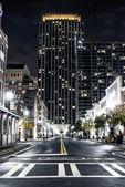 View night streets of New York — Stock Photo