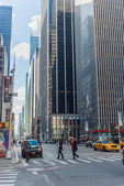 New York city streets clear day — Stock Photo