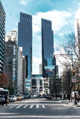 Skyscrapers on the streets of New York day — Stock Photo
