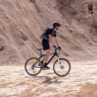 Racer bike desert area — Stock Photo