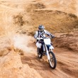 Racer on a motorcycle ride — Stock Photo #37711591
