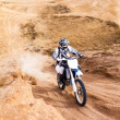 Racer on a motorcycle ride — Stock Photo