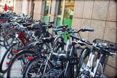 Bicycles as a common form of transport — Foto de Stock