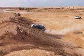 Carrera de aficionado en el día del desierto, verano. — Foto de Stock