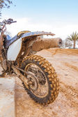 Very dirt motorbike — Stock Photo