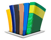 All the necessary literature in e-books — Stock Photo