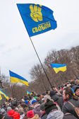 Evromaydan rallies activists in Ukraine — Stock Photo