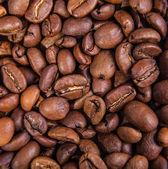 Appetizing grains of black coffee — Foto de Stock