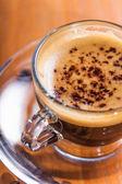 Invigorating coffee with crema — Stock Photo