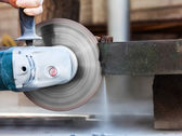 Cutting hard stone grinder — Stock Photo