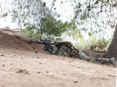 Sniper on a mission — Stock Photo