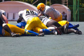 American football team play  — Stock Photo