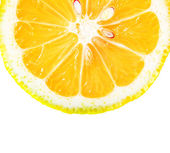 Orange slice with seeds closeup — Stock Photo
