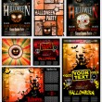 Halloween, holiday, vector, illustration, background, moon, silhouette, october, autumn, bat, scary, night, celebration, tree, spooky, design, horror, pumpkin, evil, black, house, party, fall, decorat — Stock Vector