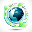 Ecology Green conceptual background — Imagen vectorial