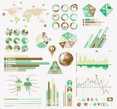 Premium Retro infographics eco collection — Stock Vector