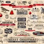 2013 Christmas Vintage typograph design elements — Stock Vector