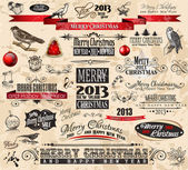 2013 Christmas Vintage typograph design elements — Stock Vector