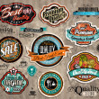 Set of Premium Quality Vintage Labels — Stock Vector
