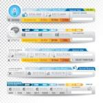 colección de elementos web - varias plantillas — Vector de stock