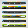 Collection of web elements - Various templates — Vector de stock #13516146