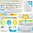 Collection of web elements - Various templates — Vector de stock #13516291