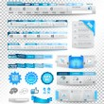 Collection of web elements: menu items — ストックベクタ