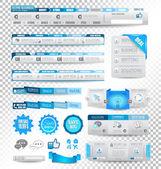Collection d'éléments web: éléments de menu — Vecteur