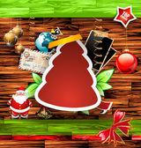 Composição de scrapbook vintage de natal — Vetorial Stock