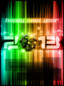 2013 New Year Celebration Background — Stock Vector