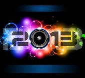 Fondo de celebración de año nuevo de 2013 — Vector de stock