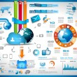 Infographics Elements for cloud computing graphs — Stock Vector