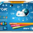 Infographics Elements for cloud computing graphs — Cтоковый вектор #15028977