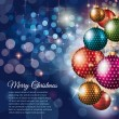 Merry Christmas flyer with glitter background  — Stockvektor