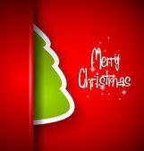 Elegant Classic Christmas flyer with half tree — Stock Vector