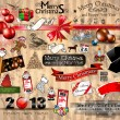 2013 Christmas Vintage typograph design elements — Vektorgrafik
